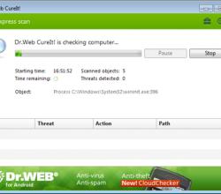 Dr.Web CureIt! 8.0.3