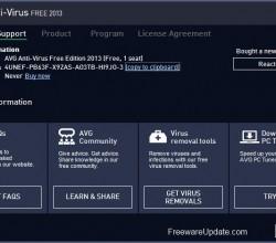AVG Free Edition 2013.0.3267 (64-bit)