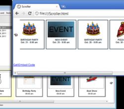 Event Scroller - Calendar of Events 2011.11