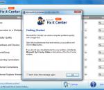 Microsoft Fix it Center beta