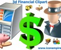 3d Financial Clipart 1.4