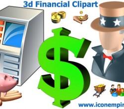 3d Financial Clipart 1.4
