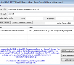HS Download HTTP Client Library in C/C++ 1 0 3a - Free Download
