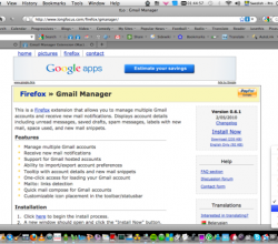 Gmail Manager Extension - Firefox