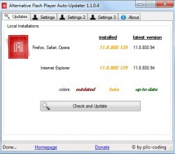 Alternative Flash Player Auto-Updater 1.1.0.4