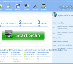 Sound Card Drivers Download Utility 3.5.3