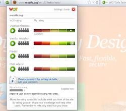 WOT - Safe Surfing - Firefox