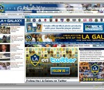 MLS LA Galaxy Soccer IE Browser Theme 0.9.1.1