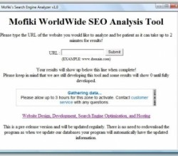 Mofiki's SEO Analyzer 1.0