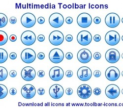 Multimedia Toolbar Icons 2011.1