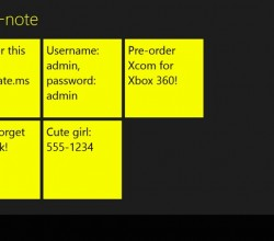 Pin-a-note for Win8 UI