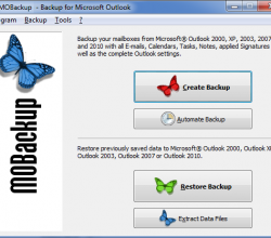 MOBackup - Outlook Backup Software 7.51