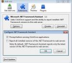 Microsoft .NET Framework Assistant - Firefox