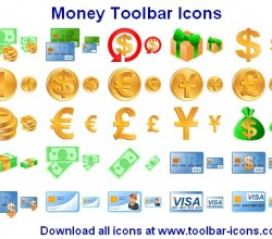 Money Toolbar Icons 2013.1