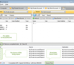 CloudBerry Explorer PRO for Amazon S3 3.2.1.11