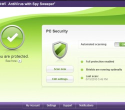 Webroot AntiVirus with Spy Sweeper 2011 7.0.4