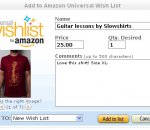 Amazon Add to Wish List Button - Firefox