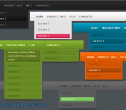Animated jQuery Menu Style 08 1.5