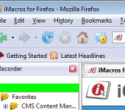 iMacros for Firefox 6.0.1.0