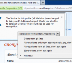 anonymoX 2.1.1