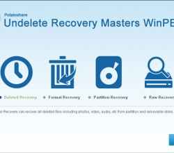 Potatoshare Undelete Recovery WinPE 4.1.0.0