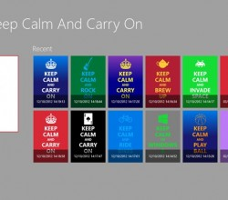 Keep Calm for Win8 UI