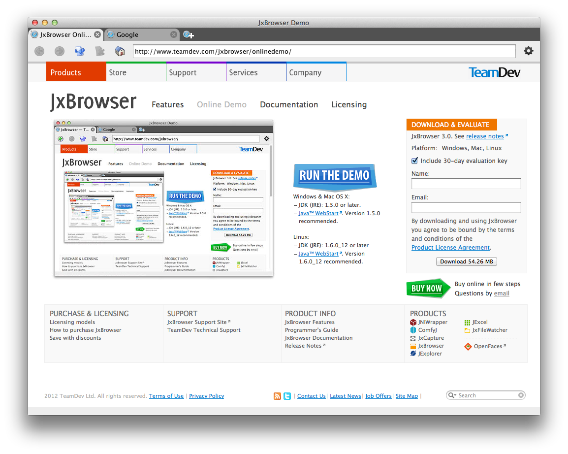 JxBrowser 4 - Free Download