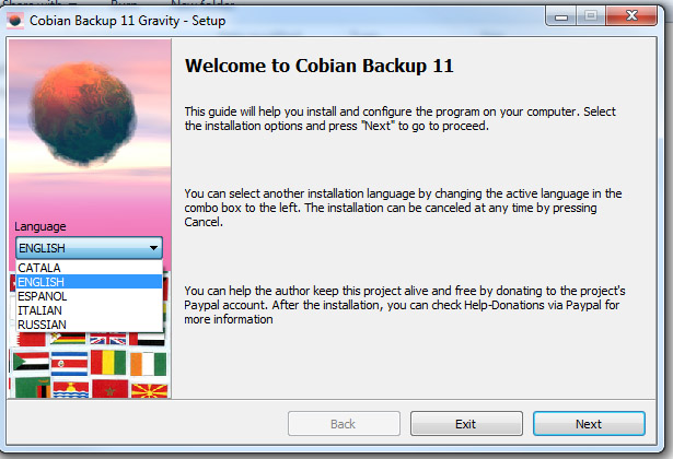 cobian backup 11 gravity
