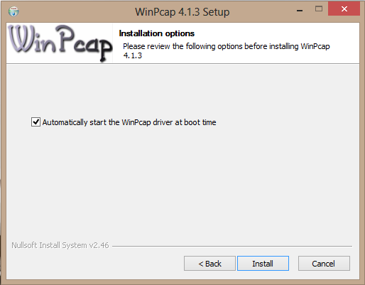 winpcap windows 8.1
