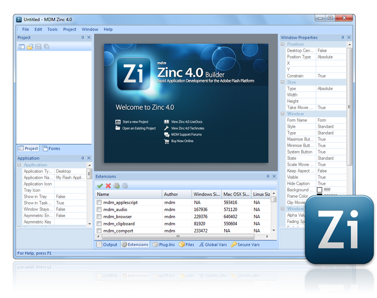 MDM Zinc 2.5 скачать бесплатно.
