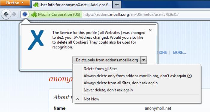 anonymox mozilla